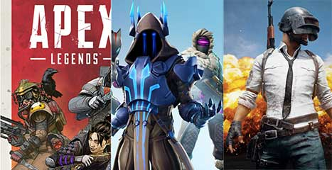 مقایسه PUBG ،Fortnite و Apex Legends