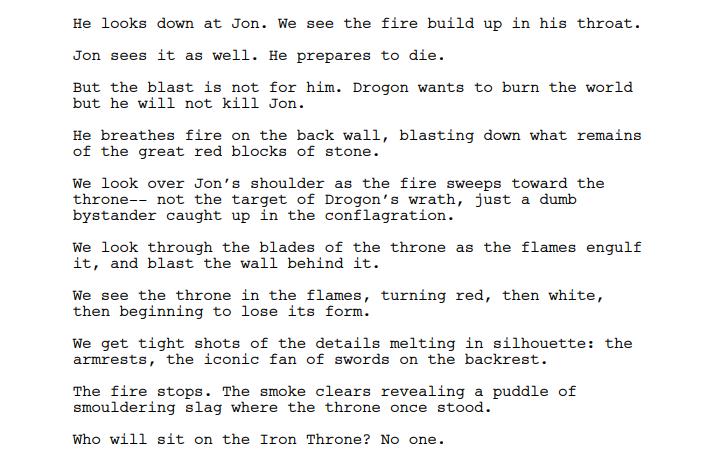 game of thrones Script